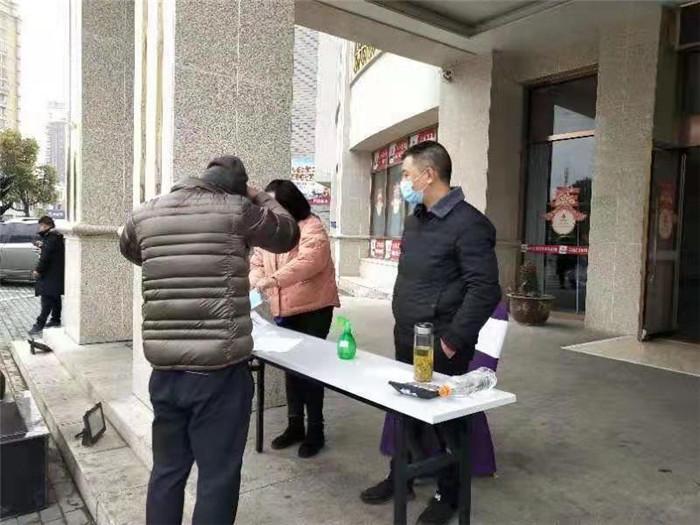 淮城街道恩来社区党群联防联控确保打赢新型病毒控硬仗